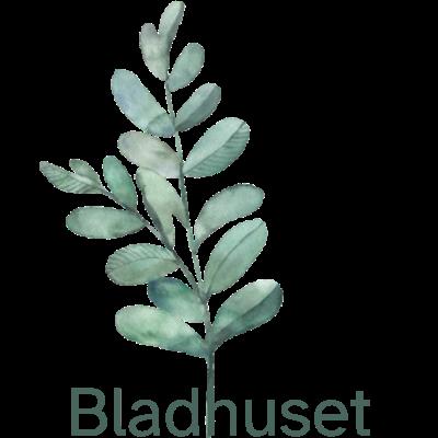 Bladhuset logotyp och blad-illustration