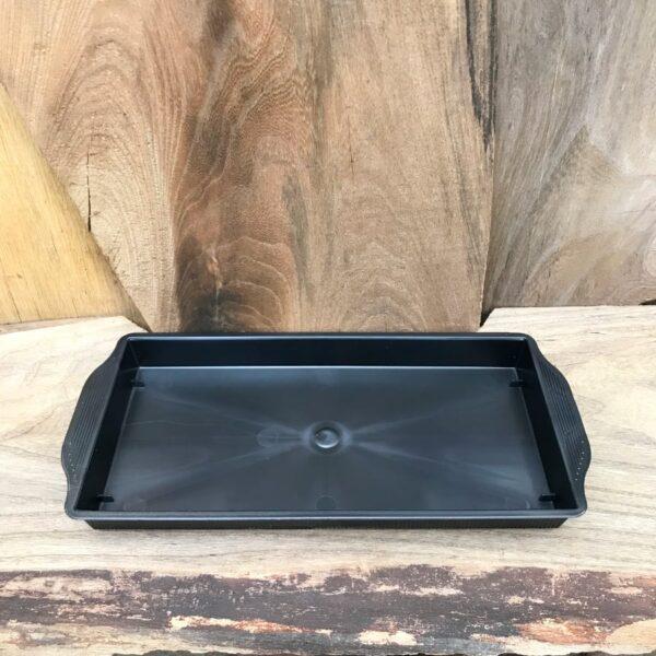 Fat, rektangulärt i plast, 12,5 x 24 x 2 cm