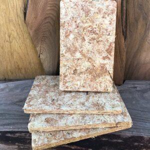 4 block med torkad Sphagnum