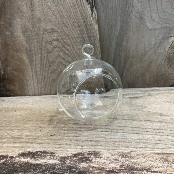 Glasklot, rund, 8 cm